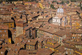 Siena roof tops and cathedral view, Tuscany, Italy Royalty Free Stock Image