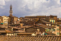 Siena Rooftops Royalty Free Stock Photo