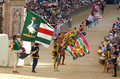 Siena's palio horse race Royalty Free Stock Photography