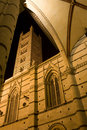 Siena - tower of cathedral in the night Royalty Free Stock Photo