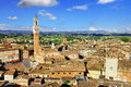 Siena tuscany view of piazza del campo Royalty Free Stock Image