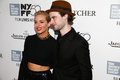 Sienna miller tom sturridge new york oct actress l and attend the foxcatcher premiere at the nd new york film festival at alice Royalty Free Stock Photos