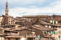 Sienna the roofs of in tuscany italy Stock Photography