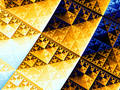 Sierpinski Triangle Stock Image