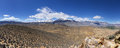 Sierra east side panorama of the nevada mountains from tungsten peak near bishop california Stock Image