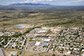 Sierra fiesta landscape vista arizona from above including church and neighborhood Royalty Free Stock Image