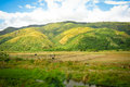 Sierra madre mountain range photo of the and rice fields nueva ecija philippines Royalty Free Stock Images