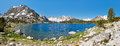 Sierra Nevada Mountain Lake Panorama Royalty Free Stock Photos