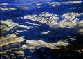 Sierra nevada mountains with fresh snow california Royalty Free Stock Images