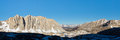 Sierra Nevada Peaks Panorama Stock Photography