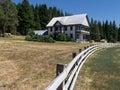 Sierra Nevada ranch home Royalty Free Stock Photo