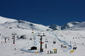 Sierra nevada ski resort in spain view of as of th of march Royalty Free Stock Photography