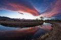 Sierra Wave Sunset Royalty Free Stock Photo