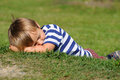 Siesta on grass Royalty Free Stock Photos