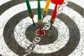 το χαρτόνι εκτινάσσει το &sig Στοκ Φωτογραφίες