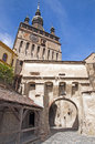 Sighisoara bell clock tower Royalty Free Stock Photos