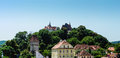 Sighisoara and biserica din deal a panorama of the hill in the center of medieval town of in transylvania romania with the roof Royalty Free Stock Photography