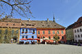 Sighisoara citadel center Royalty Free Stock Image