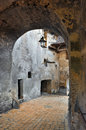Sighisoara entrance in old town transylvania romania Stock Image