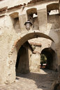 Sighisoara gate old in a city wall in transylvania romania Royalty Free Stock Photography