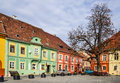 Sighisoara medieval city romania center of only inhabited fortress in europe landmark of transilvania Stock Photo