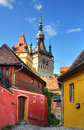 Sighisoara medieval city street view in of romania Stock Image