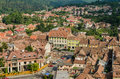 Sighisoara medieval fortress aerial view romania august on august in romania founded in today is the most Stock Photography