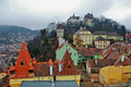 Sighisoara romania view from the clock tower of the old city of Royalty Free Stock Image