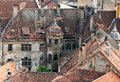 Sighisoara roofs view of old medieval city in romania Royalty Free Stock Image