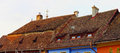 Sighisoara rooftops in the town where vlad tepes draculea was born transylvania romania Stock Images