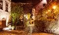 Sighisoara street in the citadel romania Royalty Free Stock Photos