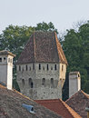 Sighisoara tower ruins fortification defence Royalty Free Stock Photo