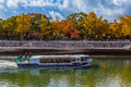 Sight seeing boat at hiroshima peace memorial park japan november in japan on november connected Stock Images