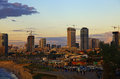 Sight tel aviv israel twilight Stock Photography