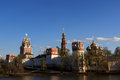 Sights of moscow architectural the novodevichy convent Stock Photography