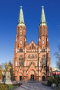Sights of poland church in warsaw neo gothic cathedral st florian Royalty Free Stock Photography