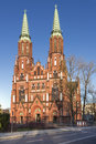 Sights of poland church in warsaw neo gothic cathedral st florian Stock Photos