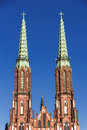Sights of poland church in warsaw neo gothic cathedral st florian Stock Photography