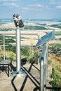Sightseeing binoculars zobor slovak republic tourism theme Royalty Free Stock Image