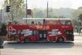 Sightseeing bus in the bund Shanghai Royalty Free Stock Photo