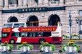Sightseeing bus in the bund Shanghai