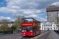 Sightseeing Bus in Frankfurt, Germany Royalty Free Stock Photo