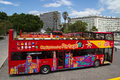 Sightseeing bus lisbon portugal may a city in lisbon city operates in locations worldwide and carry a combined total Royalty Free Stock Photography