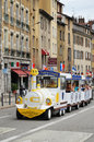 Sightseeing streetcar in Grenoble Royalty Free Stock Images