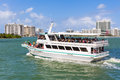 Sightseeing tour aboard a ship in miami cruise biscayne bay Royalty Free Stock Image