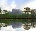 Sigiriya Castle in morning mist Royalty Free Stock Photo