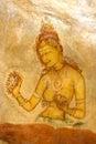 Sigiriya Fresco, Sri Lanka Stock Image