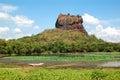 The sigiriya lion s rock is an ancient rock fortress and palace ruins sri lanka Stock Photo