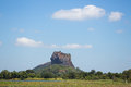 Sigiriya lion s rock sri lanka place with a large stone and ancient fortress and palace ruin Stock Photography