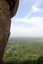 Sigiriya rock and forest in sri lanka Royalty Free Stock Photo